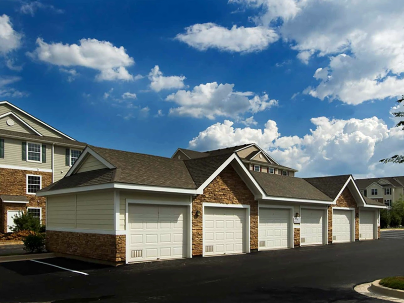 This image shows the detached garages in TGM Odenton Apartments that are ideal community amenities featuring a secured place for cars to park for every resident.